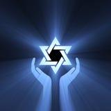 service för stjärna för lampa för david signalljushand Royaltyfria Bilder