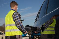 Service för tom bilbehållare Arkivfoto