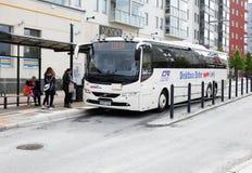 Service för uttrycklig buss i Boden arkivbilder