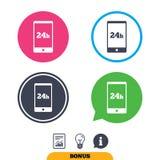 Service für Kunden 24 Stunden Lizenzfreies Stockfoto