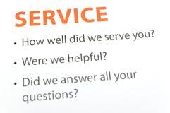 Service feedback Royalty Free Stock Photo