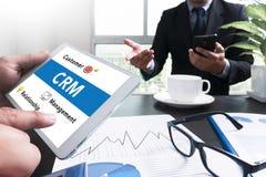 Service Firmenkunde CRM-betriebswirtschaftlicher Auswertung stockbild