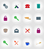 Service flat icons vector illustration Royalty Free Stock Images