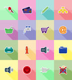Service flat icons vector illustration Stock Photos