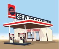 Service gas station Stock Image