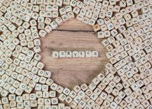 Service, German text for Service, word in letters on cube dices on table royalty free stock photos
