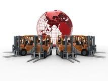 Service global de chariots élévateurs Image libre de droits