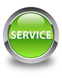Service glossy green round button Stock Photos