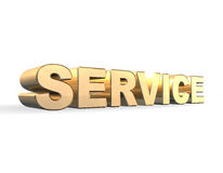 Service Gold 3d stock image