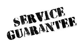 Service Guarantee rubber stamp. Grunge design with dust scratches. Effects can be easily removed for a clean, crisp look. Color is easily changed Stock Image