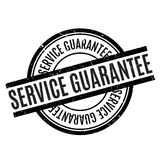 Service Guarantee rubber stamp Stock Photos