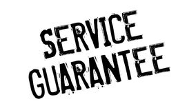 Service Guarantee rubber stamp. Grunge design with dust scratches. Effects can be easily removed for a clean, crisp look. Color is easily changed Stock Photos