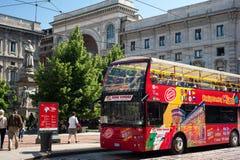 Service guidé de ville à Milan Photos stock
