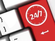 Service 24 heures sur 24 de clavier d'ordinateur Photos libres de droits
