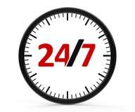 Service 24 heures sur 24, entier Images libres de droits