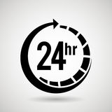 Service 24 hours  design. Illustration eps10 graphic Royalty Free Stock Photography