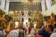 Service i den ortodoxa kyrkan Arkivbilder