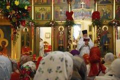 Service i den ortodoxa kyrkan bön Arkivbilder
