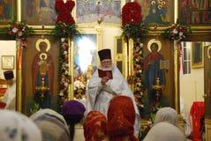 Service i den ortodoxa kyrkan Ryssland Fotografering för Bildbyråer