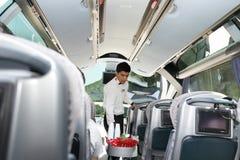 Service i turkisk buss Arkivbild