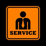 Service icon Stock Photography