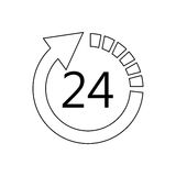 24 7 service icon image. Illustration design Royalty Free Stock Photography