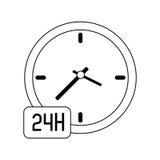 24 7 service icon image Stock Image