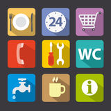 Service icon set flat Stock Photo
