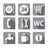 Service icon set flat Royalty Free Stock Image