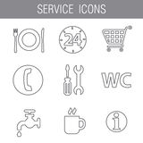 Service icon set gray Stock Photography