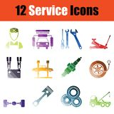 Service icon set Stock Image