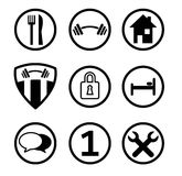 Service Icons. Services Icons in Vectors for internet Royalty Free Stock Image