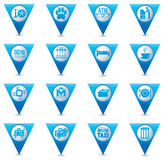 Service icons set Royalty Free Stock Images