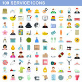 100 service icons set, flat style. 100 service icons set in flat style for any design vector illustration vector illustration