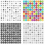 100 service icons set vector variant. 100 service icons set vector in 4 variant for any web design isolated on white royalty free illustration