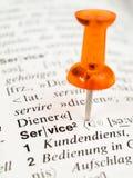 Service im Verzeichnis Lizenzfreies Stockfoto