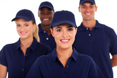 Service industry staff. Group of service industry staff closeup on white Stock Images