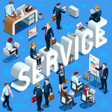 Service Isometric People Icon 3D Set Vector Illustration Stock Photos