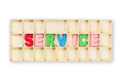 Service-Kasten Lizenzfreies Stockbild