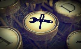 Service Key on Grunge Typewriter. Stock Image