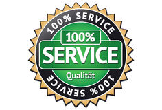 Service Label Stock Image