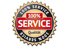 Service Label Stock Image