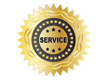 Service label Royalty Free Stock Photos