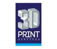 service Logo Design de l'impression 3D Photo libre de droits