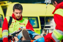 Service médical de secours photographie stock libre de droits