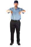 Service Man Disapproving with Thumbs Down Stock Photos