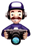 Service man Grabs a Old camera Stock Photos