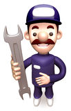 Service man Grasp a Spanner Royalty Free Stock Images