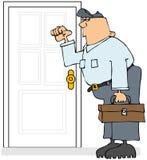 Service Man Knocking royalty free illustration