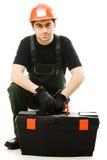 Service man wearing in helmet Stock Photography